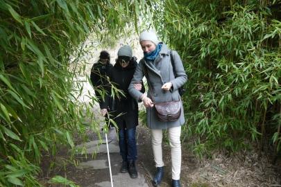 Součástí prvního projektového setkání byly i praktické workshopy týkající se přístupnosti botanických zarhad a návštěvníků se specifickými potřebami.